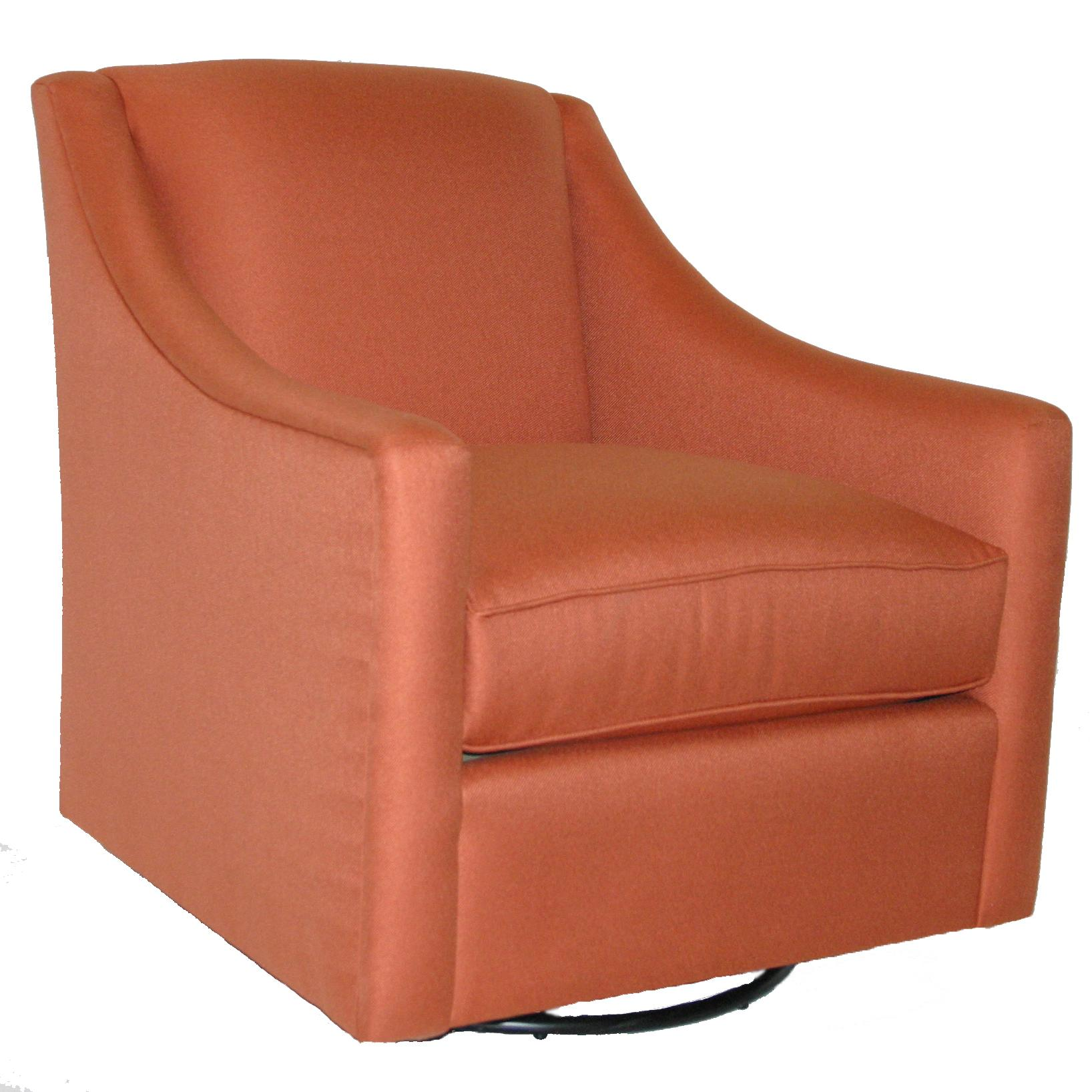 1045 Swivel Chair by Bassett at Suburban Furniture
