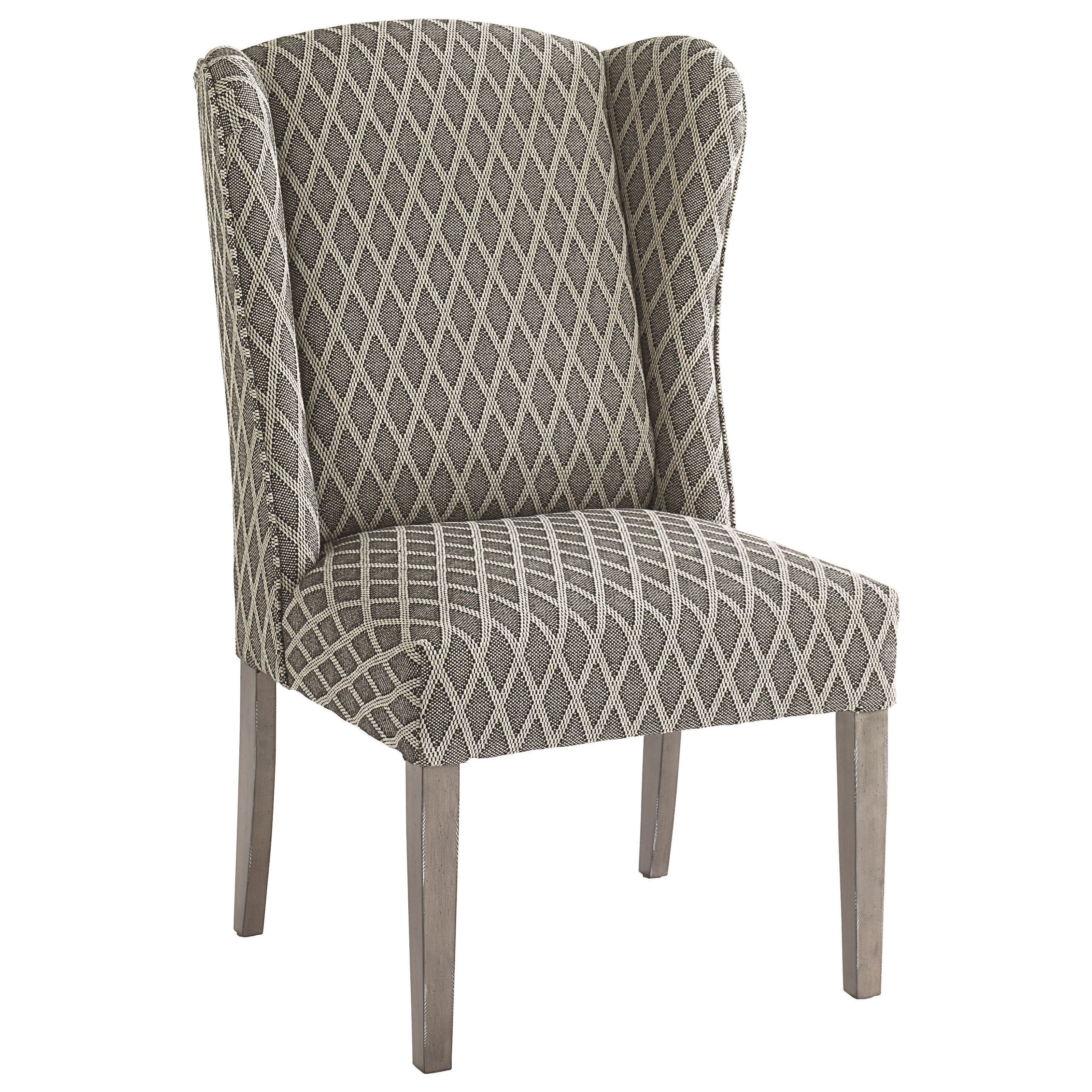Bassett Alden Customizable Side Chair - Item Number: 1128-02-Gray Diamond