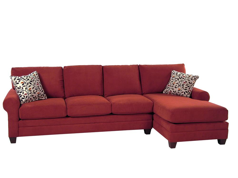 Bassett Gabe II 2 Piece Sectional w/ RAF Chaise - Item Number: 3851-63+RL