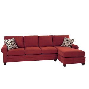Bassett Gabe II 2 Piece Sectional w/ RAF Chaise