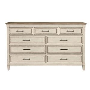 Bassett Bella Nine Drawer Dresser