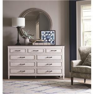 Bassett Bella Dresser & Round Mirror
