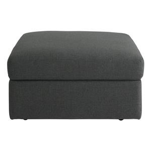 Bassett Beckham Storage Ottoman in Charcoal