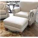 Bassett Hunt Club Club Chair & Ottoman - Item Number: BASF-GRP-2697-C-O