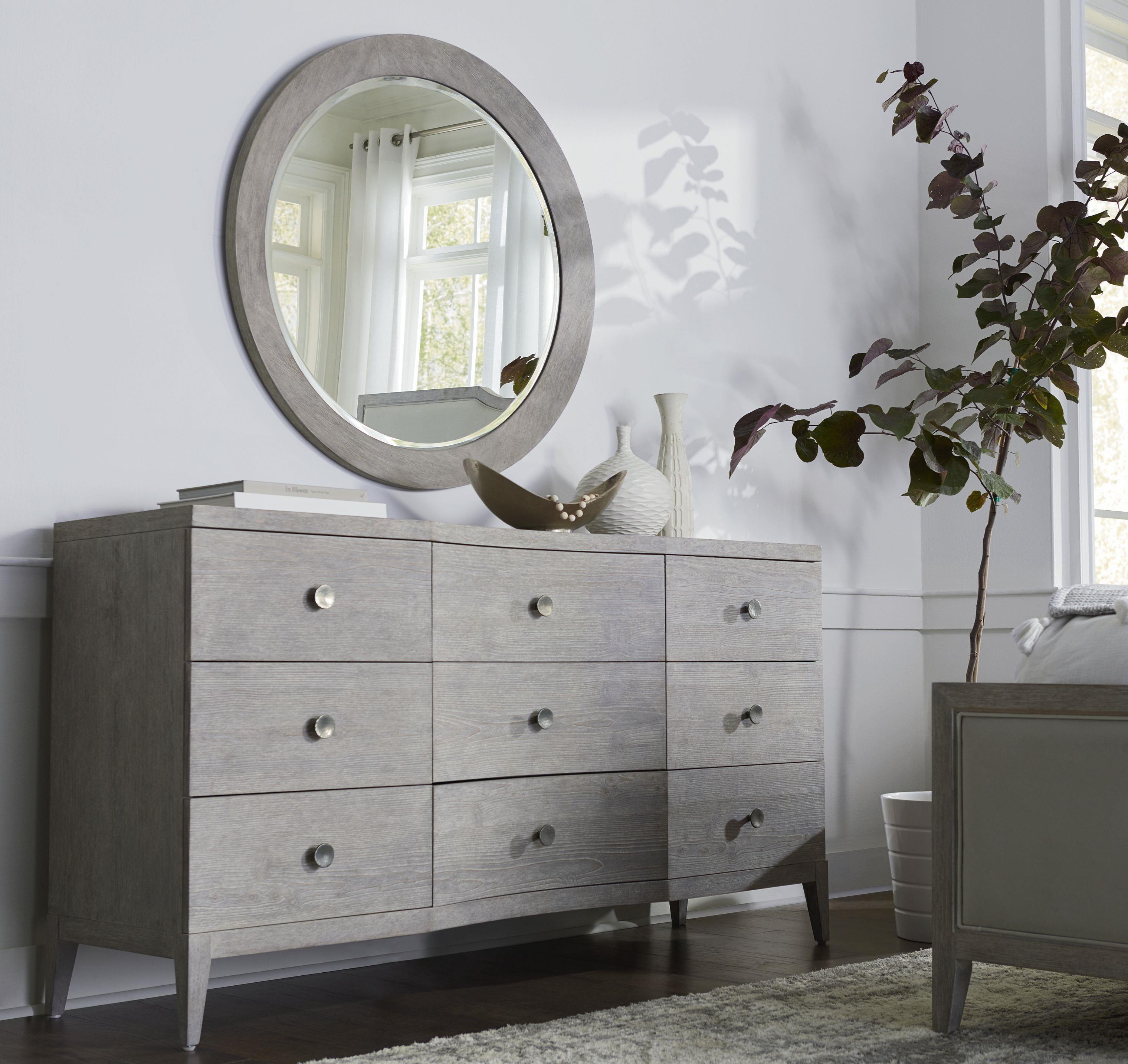 Dresser & Round Mirror