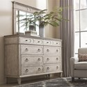 Bassett Verona Rustic Dresser with Felt and Cedar Lined Drawers