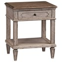 Bassett Verona Rustic Bedside Table with Outlet and USB Ports