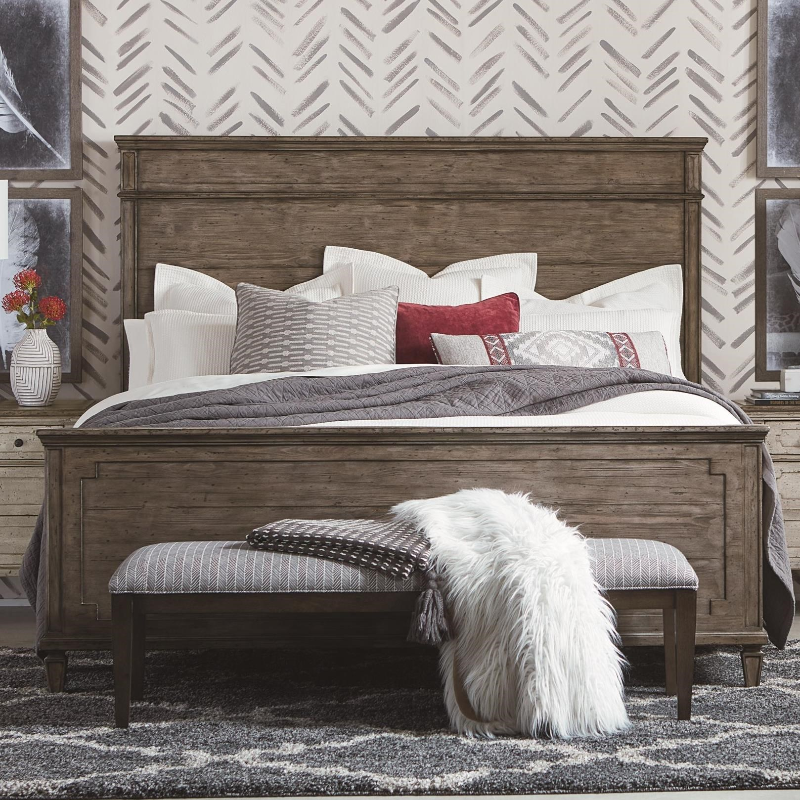 Verona King Panel Bed by Bassett at Suburban Furniture