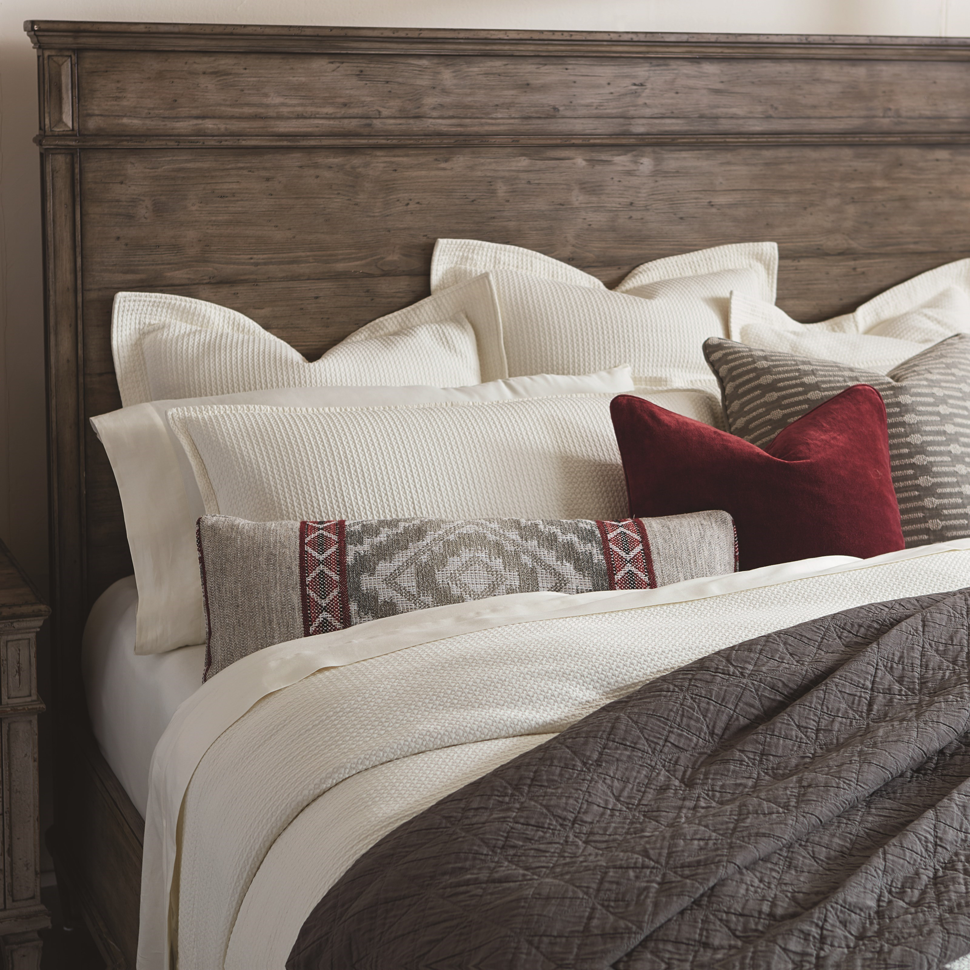 Verona Queen Panel Headboard by Bassett at VanDrie Home Furnishings