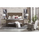 Bassett Verona Rustic King Panel Headboard - Shown as Complete Bed (also available)