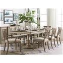 Bassett 4834D Dining Table, 6 Side Chairs, & 2 Arm Chairs - Item Number: BASF-GRP-4834-TBL6-2