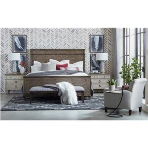Queen Bed, Dresser, Mirror, & Nightstand