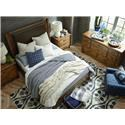 Bassett Woodhaven Queen Leather Panel Bed