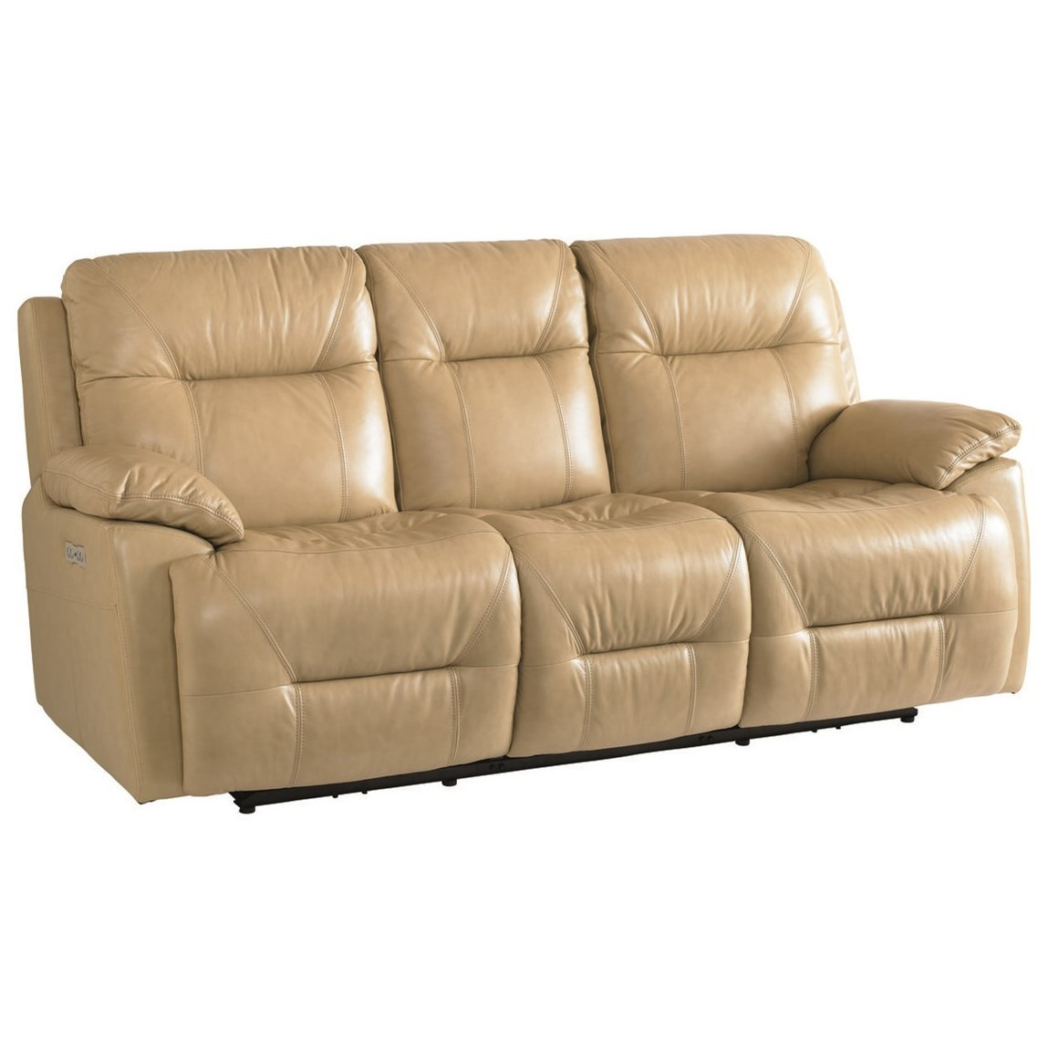 Bassett Epic Casual Power Reclining Lay-Flat Sofa With