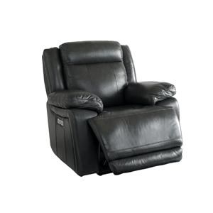 Bassett Club Level Evo Leather Recliner w/Pwr Head & Foot
