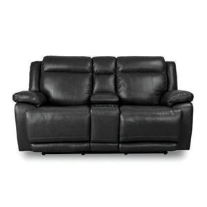 Bassett Club Level Evo Leather Pwr Reclining Loveseat w/Pwr Head &