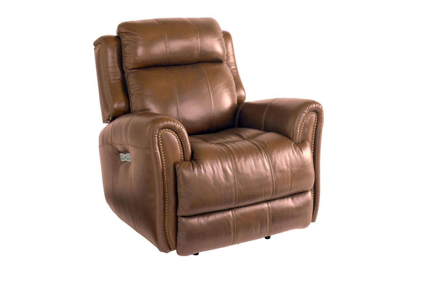 Bassett Marquee Leather Pwr Wall Recliner w/Pwr Headrest - Item Number: BASF-3707-P0U
