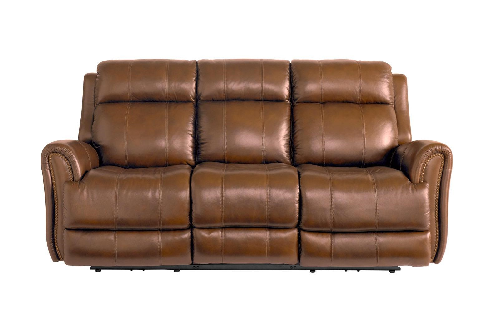 Leather Pwr Reclining Sofa w/Pwr Headrest