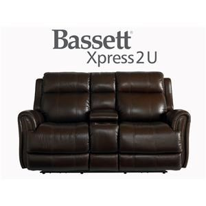 Bassett Marquee Leather Power Reclining Sofa With Power Headrest Great American Home Store