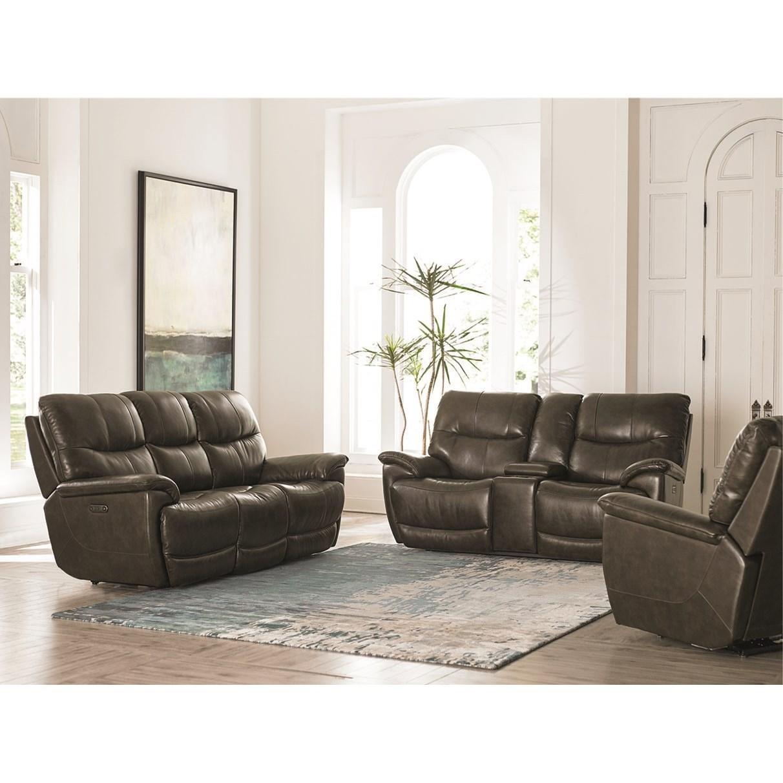 Bassett Brookville 3713 P62t Casual Power Reclining Sofa