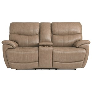 Bassett Brookville Console Power Reclining Love Seat