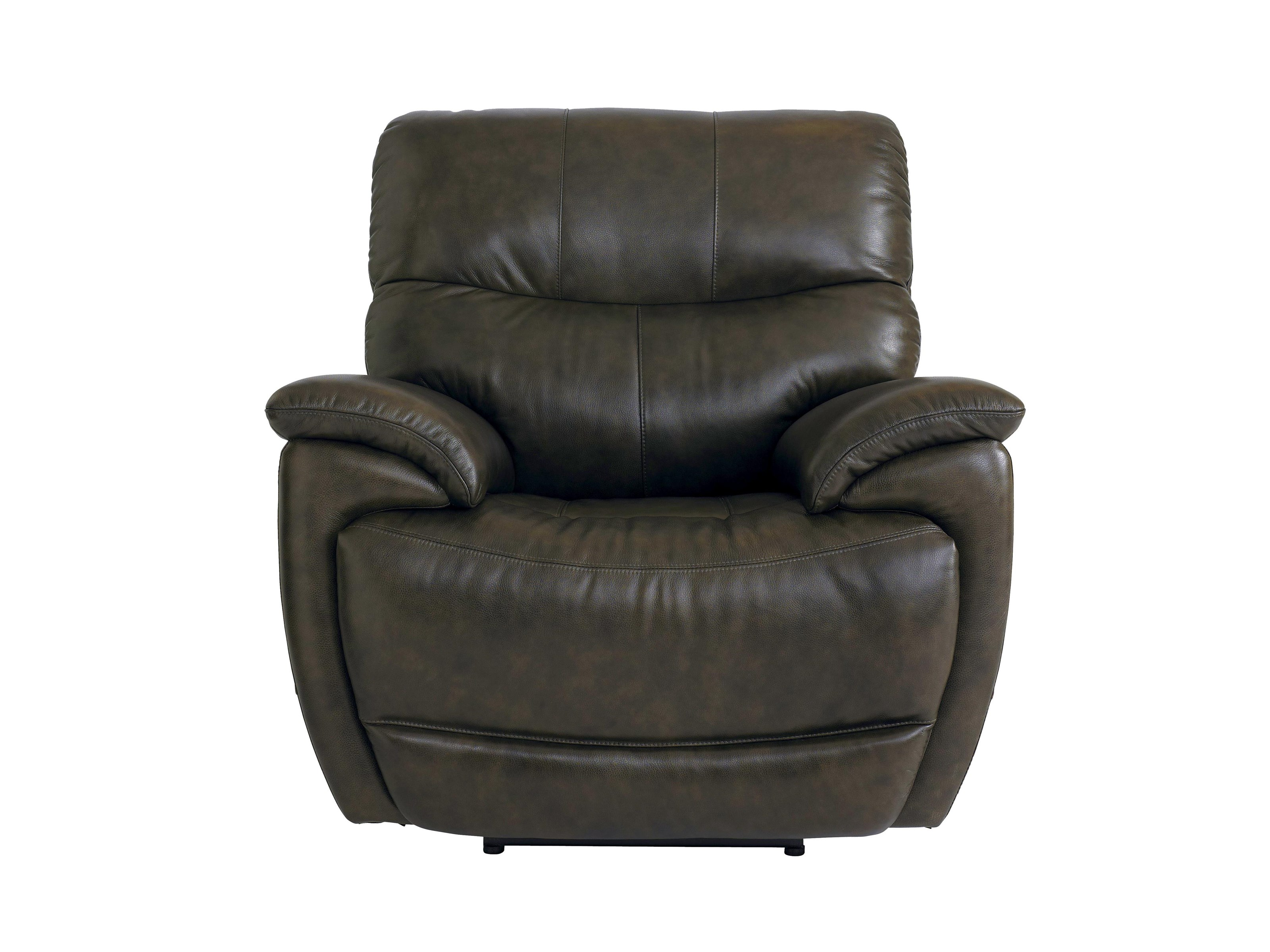 Bassett Brookville Leather Recliner With Power Head and Foot Re - Item Number: 3713-P0T