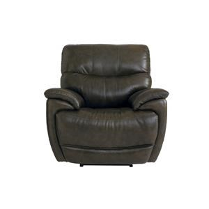 Leather Recliner With Power Head and Foot Re