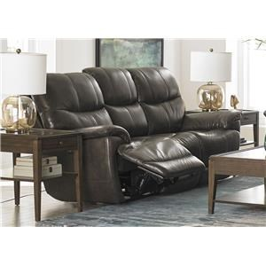Bassett Brookville Leather Reclining Sofa With Power Head and F