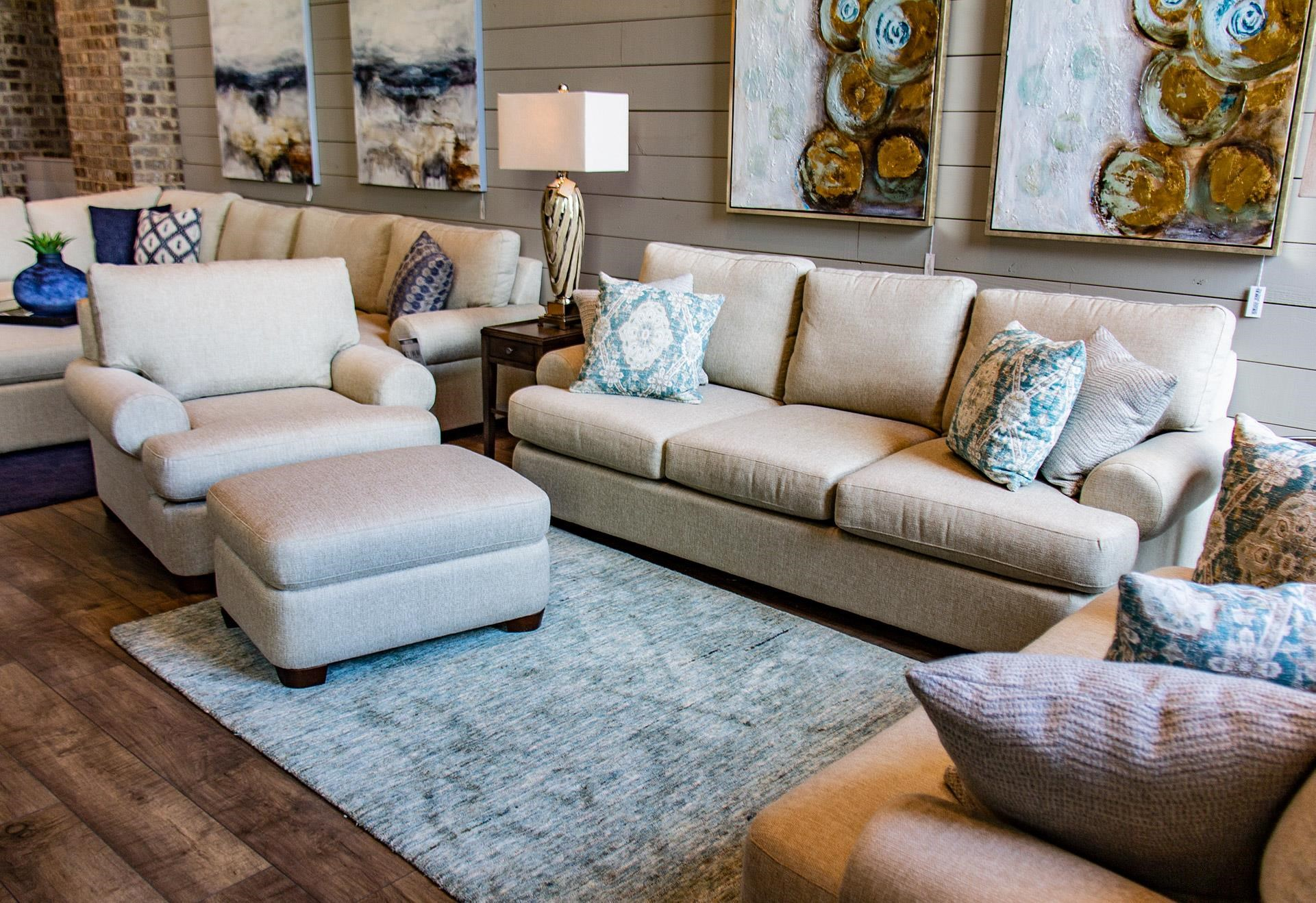 Bassett Monterey Monterey Sofa, Chair, & Ottoman - Item Number: GRP-3901-SCO