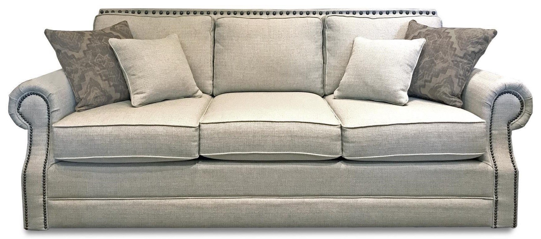 Bassett Hubbard Sofa Sleeper - Item Number: 3902--6QH 1474-2 5143-19 OBNAIL