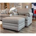 Bassett Hyde Park Chair and Ottoman - Item Number: GRP-3913-CO