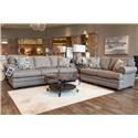 Bassett Hyde Park Sofa and Loveseat - Item Number: GRP-3913-SL