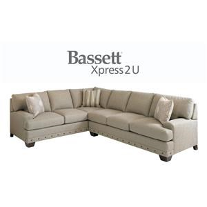 Bassett Carmine Custom Order RAF or LAF 2 Piece Sectional