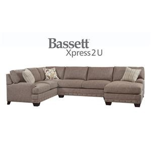 Bassett Carmine Custom Order 3 Piece Sectional with RAF or L