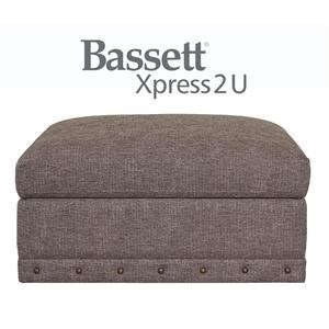 Bassett Carmine Custom Order Square Storage Ottoman