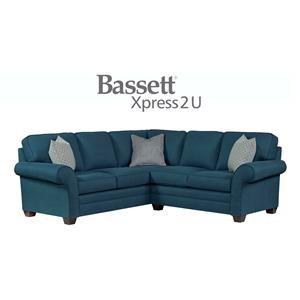 Bassett Brooke Custom Order 2 Piece Sectional