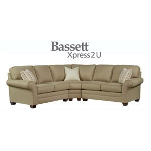 Bassett Brooke Custom Order 3 Piece Sectional