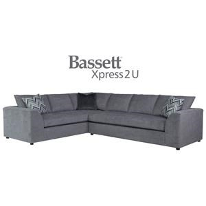 Bassett Uptown Custom Order 2 Piece Sectional