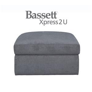 Bassett Uptown Custom Order Square Storage Ottoman