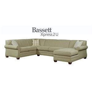 Bassett Maverick Custom Order 3 Piece Sectional