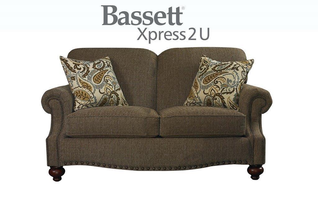 Bassett Club Room Loveseat - Item Number: BASF-3991-42 FC118-2 CP06-2