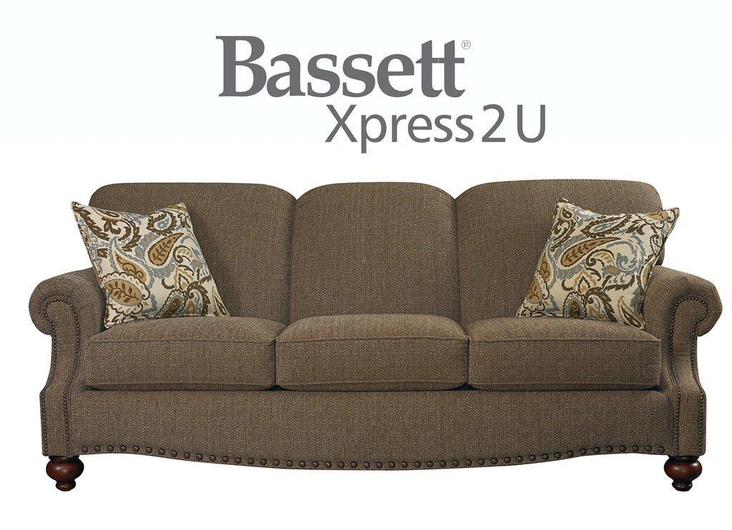 Bassett Club Room Sofa - Item Number: BASF-3991-62 FC118-2 CP06-2