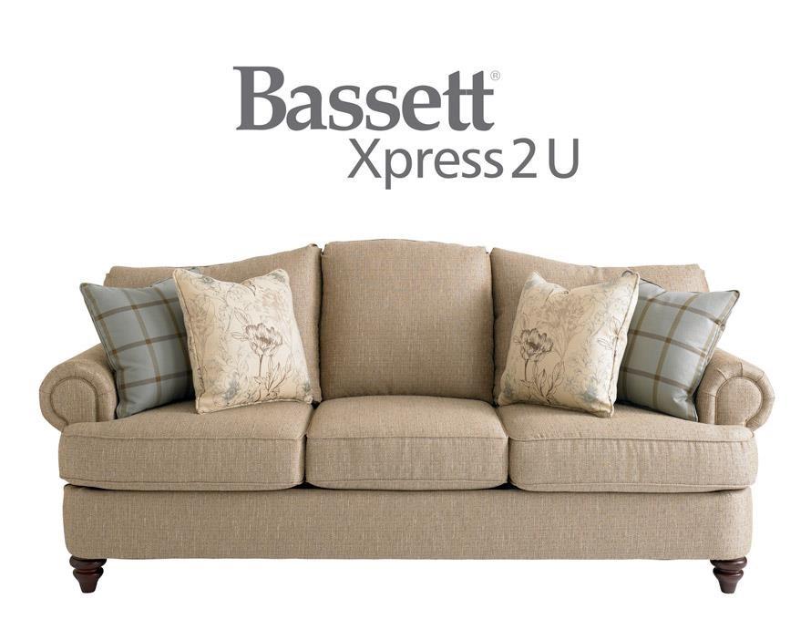 Bassett Barclay Sofa - Item Number: BASF-3999-62 FC120-2 CP08-2 CP15-5