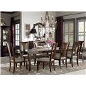 Bassett Cosmopolitan 7Pc Dining Room - Item Number: 4767-4278+2451x4+1450x2