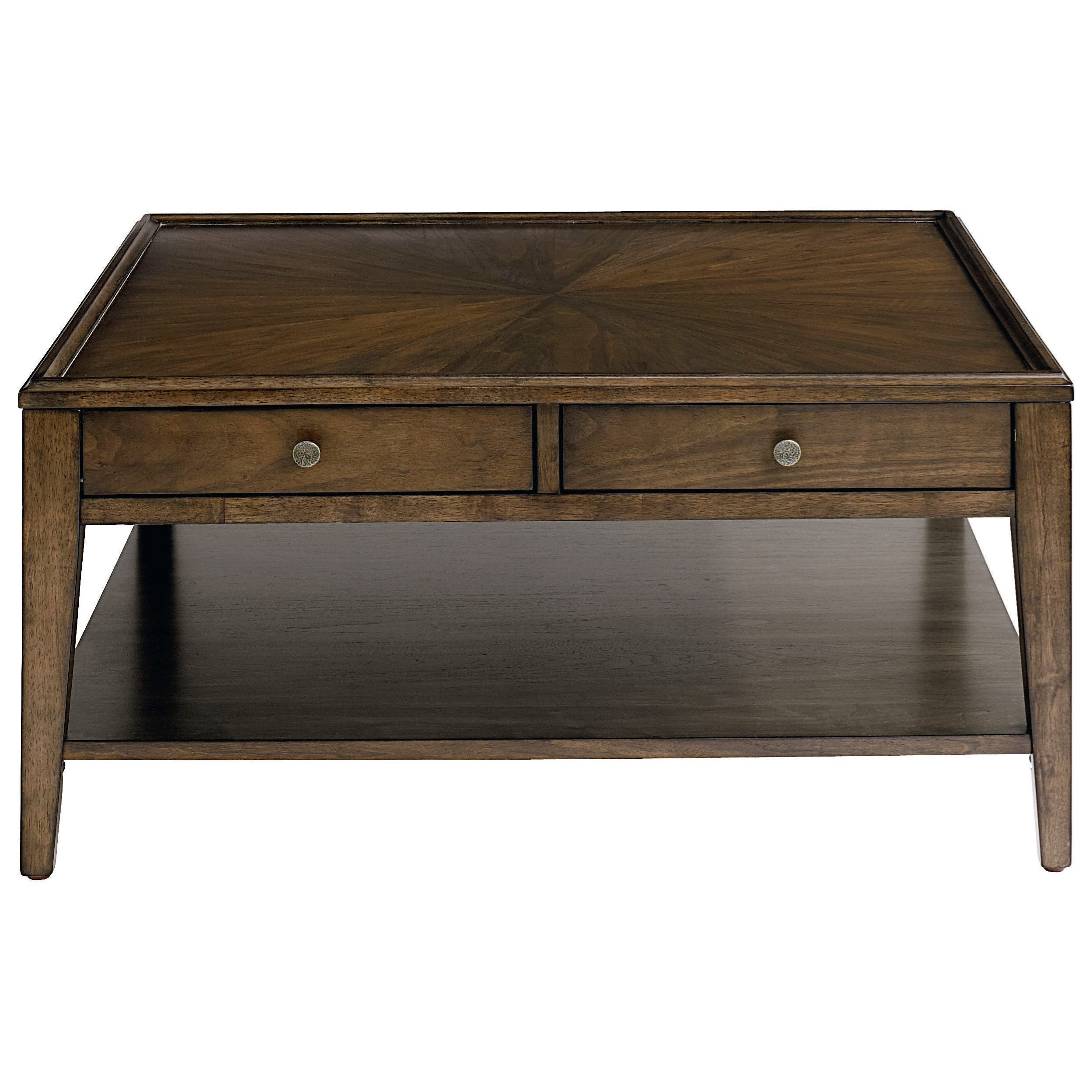Palisades Square Cocktail Table by Bassett at VanDrie Home Furnishings