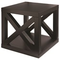 Bassett Axis Cube Table - Item Number: 6669-0625-EBONY