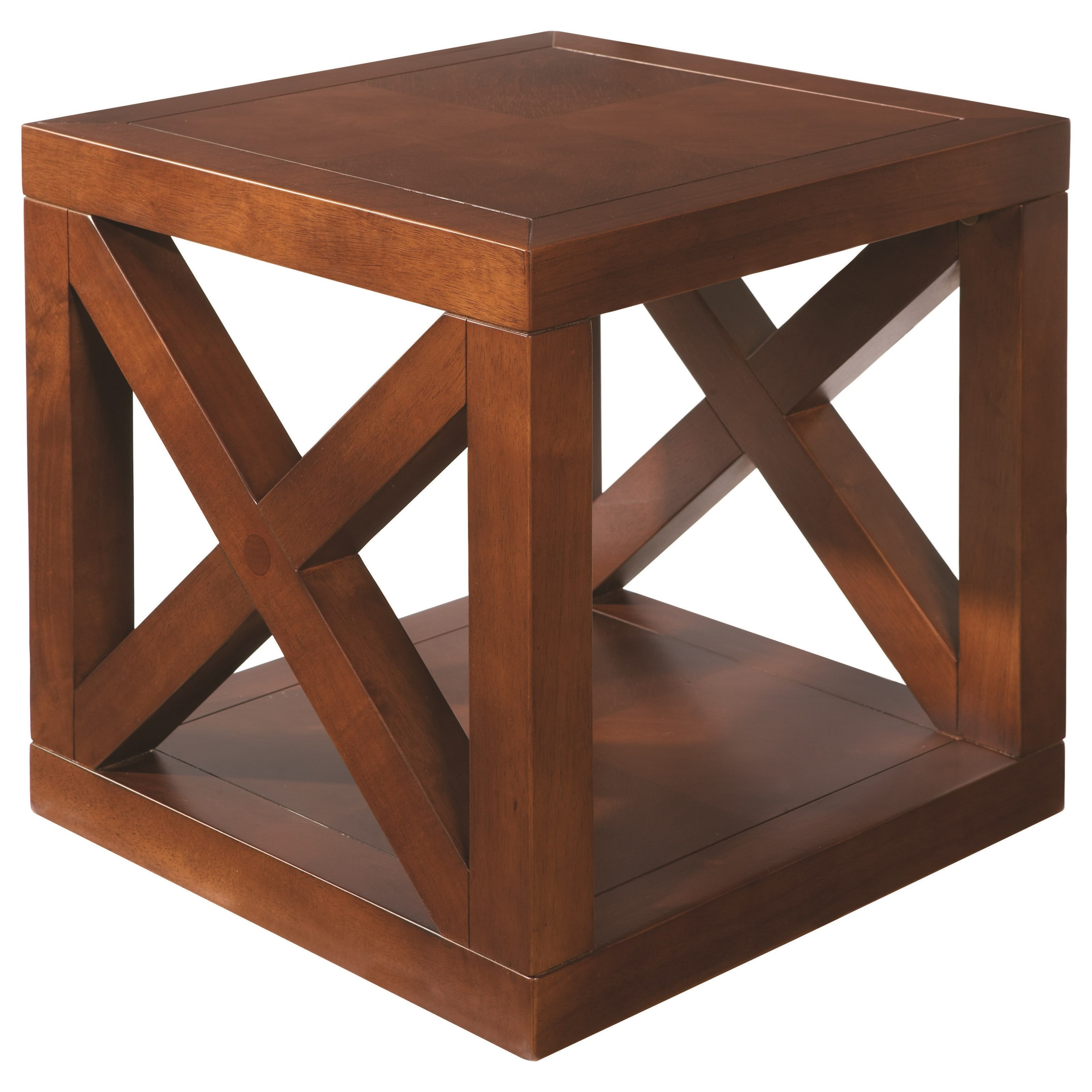 Axis Cube Table by Bassett at VanDrie Home Furnishings