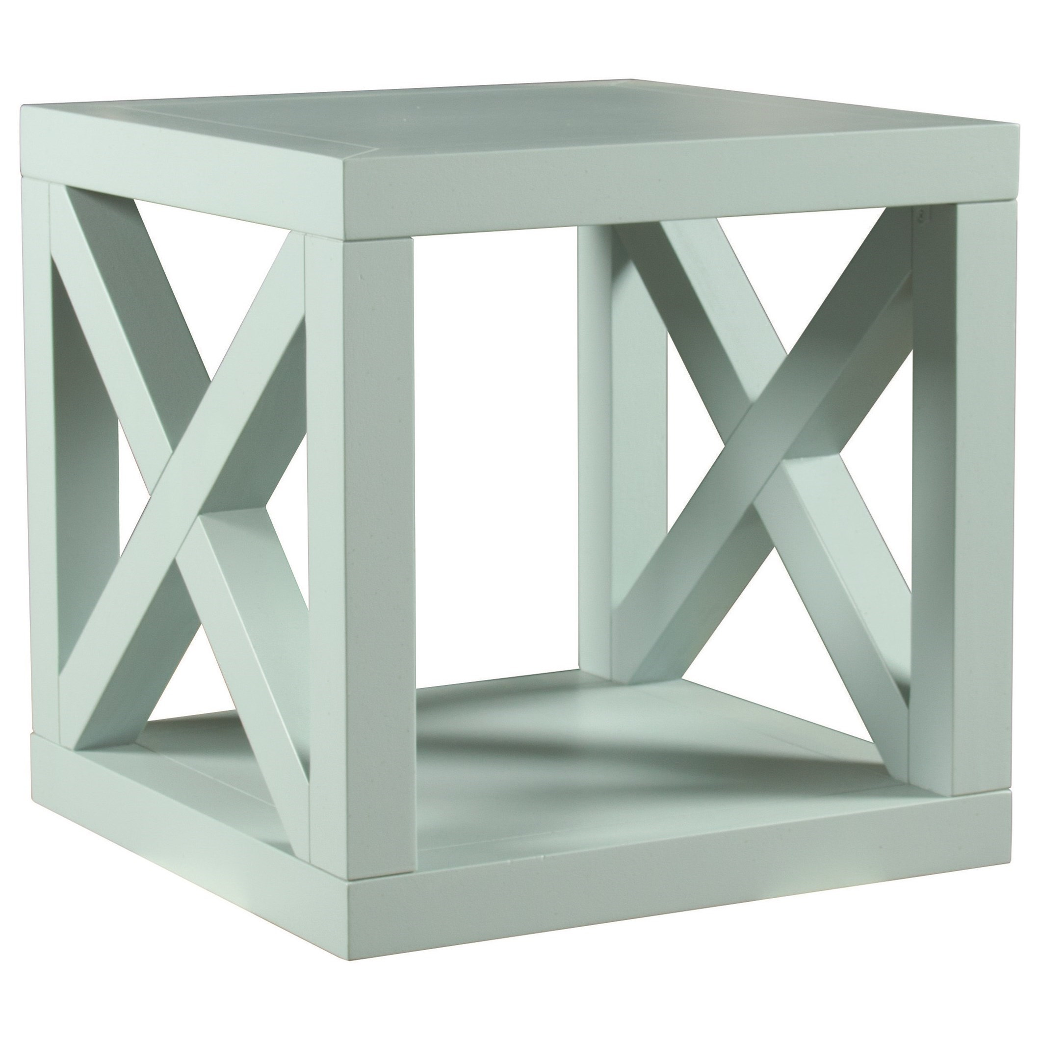 Axis Cube Table by Bassett at Esprit Decor Home Furnishings