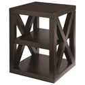 Bassett Axis End Table - Item Number: 6669-0640-EBONY
