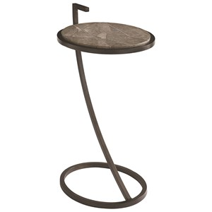 Bassett Iron & Stone End Table